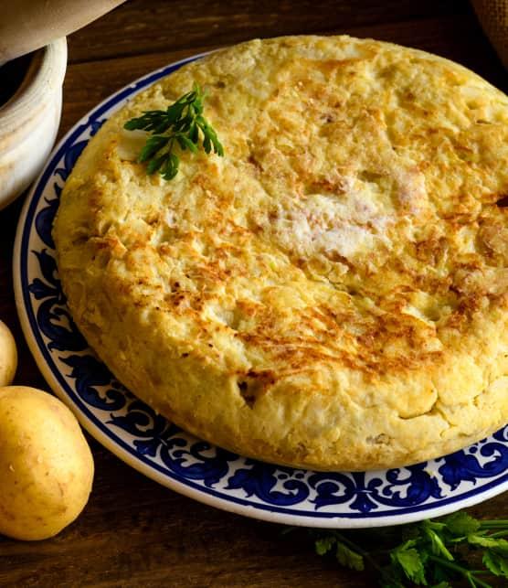 Tortilla de pommes de terre aux oignons verts