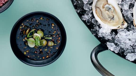 Sauce mignonette asiatique pour huîtres