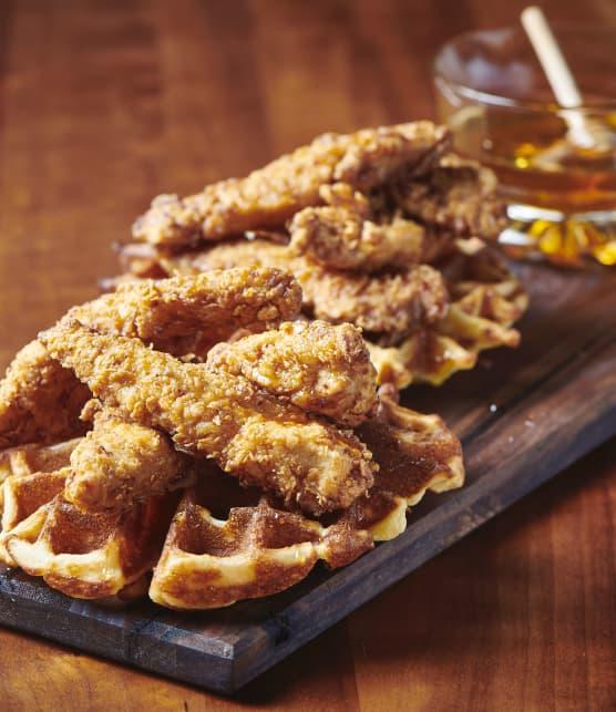 Filets de poulet frit