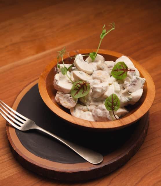 Salade de champignons à la crème