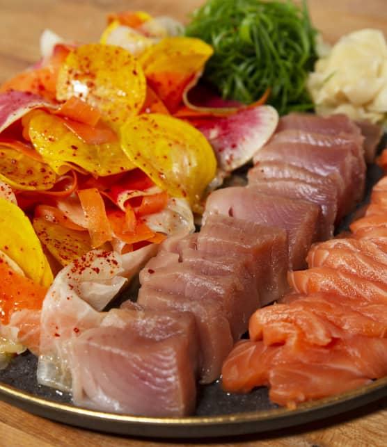 Salade de sashimis