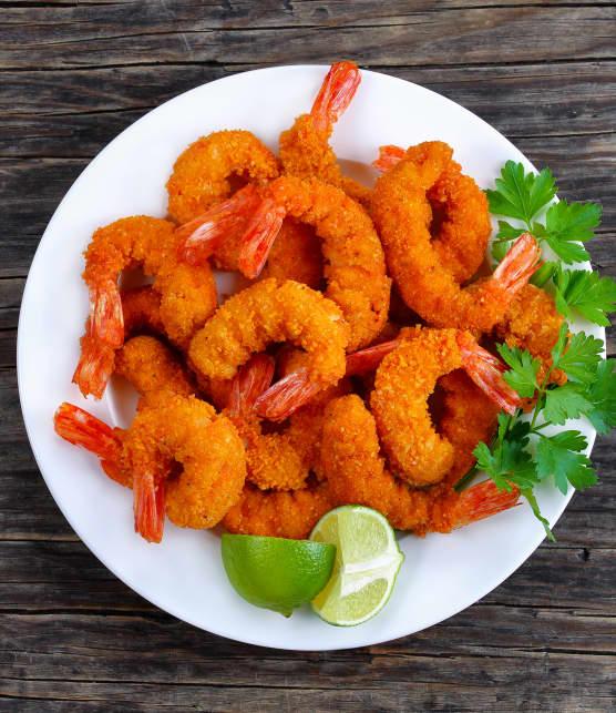 Crevettes d'Argentine curry-coco et salsa à la mangue