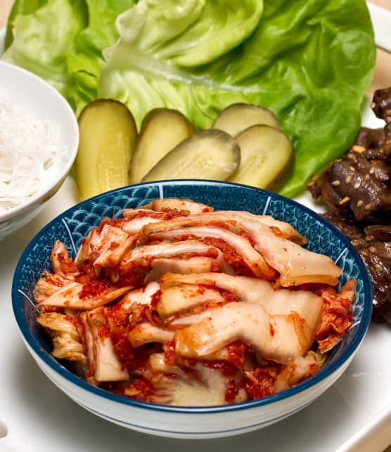 chou napa mariné style kimchi