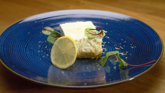 Carré au citron et fromage