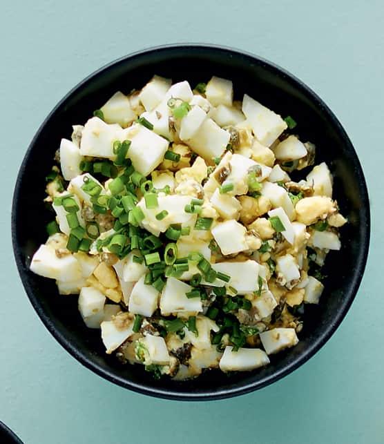 Sauce aux oeufs durs pour huîtres