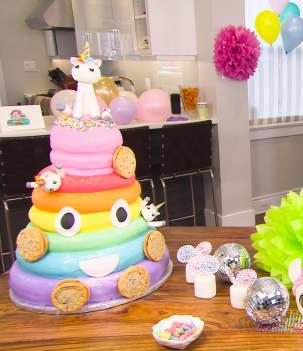 Gâteau disco licorne