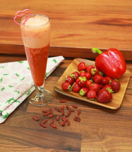 Recette de smoothie rouge avec Karine Verpillot