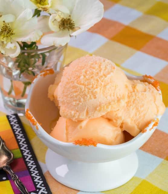 Crème glacée aux carottes