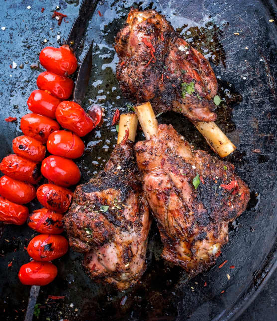 Agneau barbecue à la marocaine