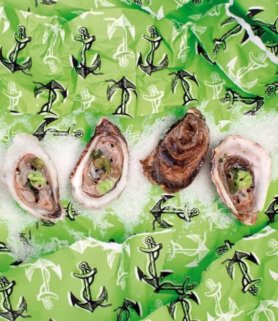 Mignonette au wasabi pour huîtres