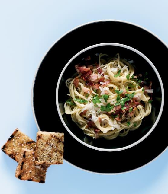 Spaghetti carbonara express