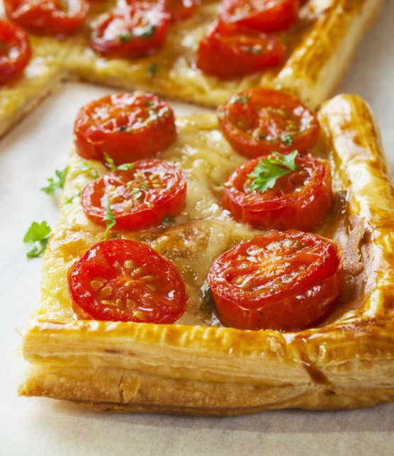 Tarte aux tomates confites