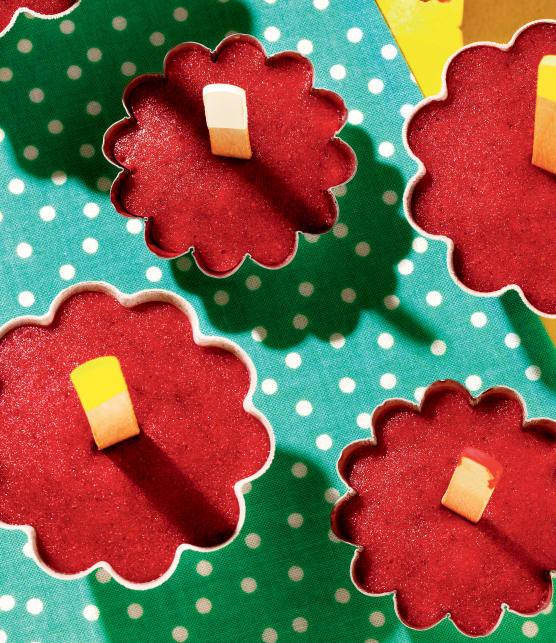Popsicles fraises, citron et gingembre