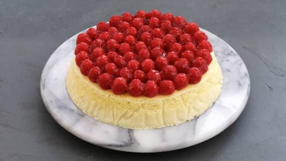 Cheesecake aérien aux framboises
