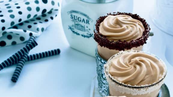 Mousse express au chocolat blanc et au café