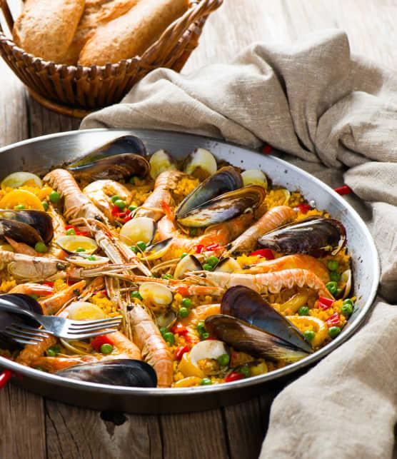 Paella sur le gril