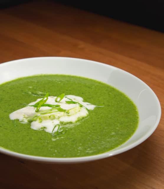 Potage au brocoli et aux épinards