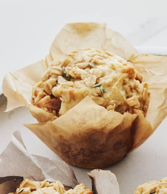 Muffins aux pommes & au fromage à raclette