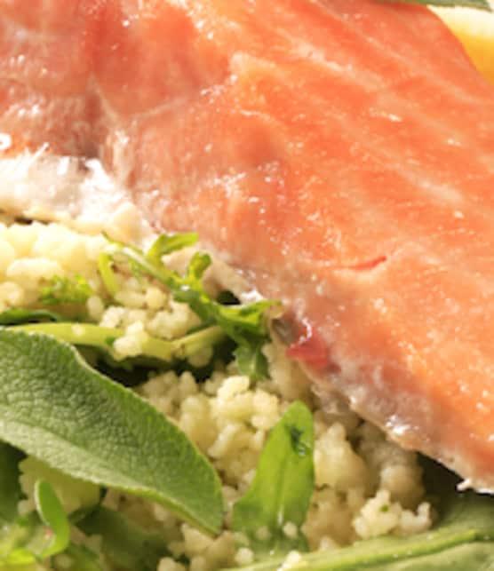 salade de couscous et de saumon