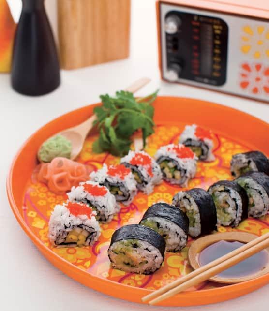 Sushis sucrés-salés aux fruits