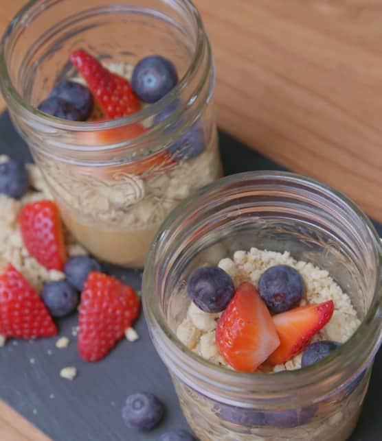 Verrine dessert : tarte au sirop d'érable