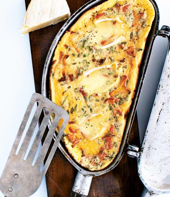 Omelette au Gaulois de Portneuf aux chanterelles