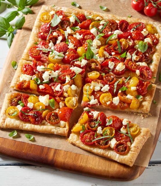 Tarte aux tomates et au fromage de chèvre