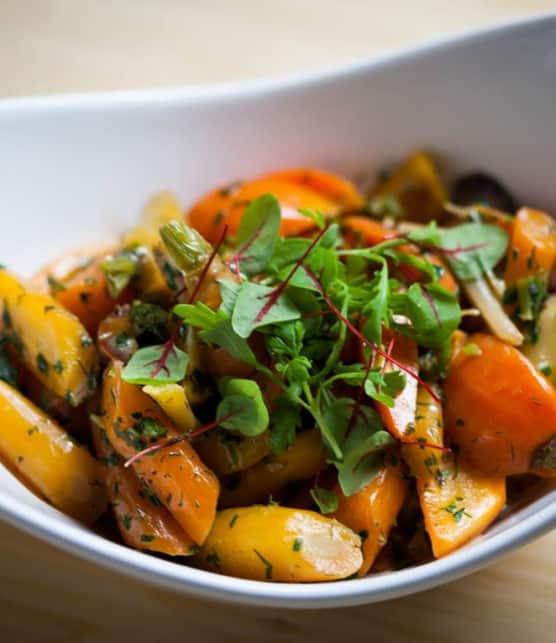 Recette de carottes braisées à la crème
