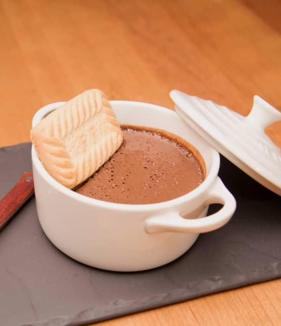 Pouding au chocolat noir et tofu soyeux