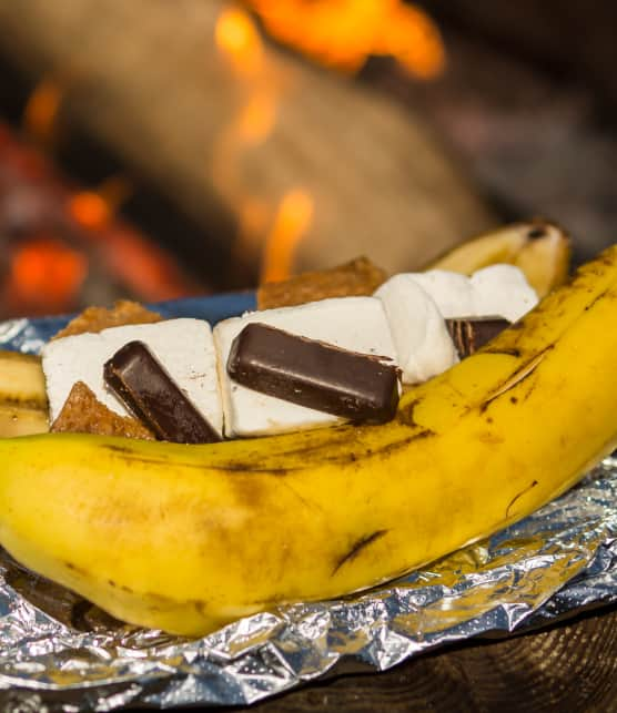 Banane surprise sur le BBQ