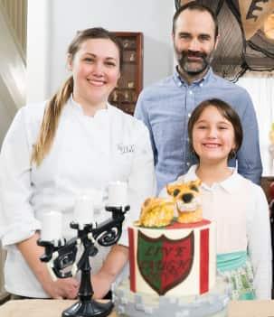 Gâteau armoiries médiévales