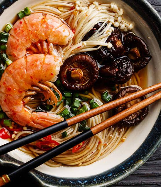 soupe asiatique aux champignons