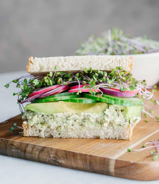 Sandwich végé vert