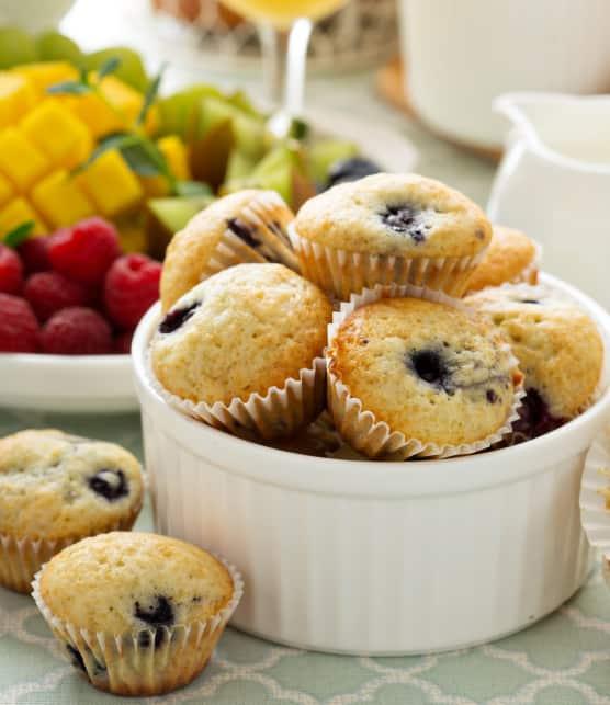 Muffins aux bleuets santé et légers