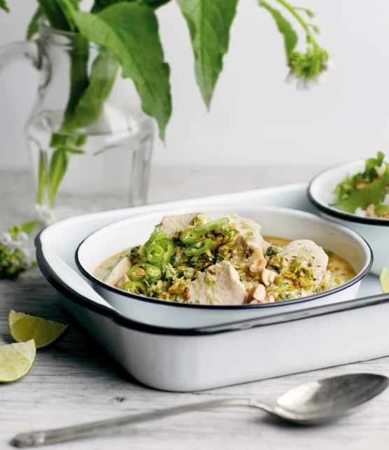 Curry de poulet vert et parfumé