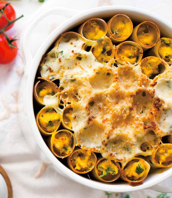 Cannellonis à la courge butternut et aux trois fromages