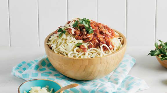 Panais pancetta et sauce tomate