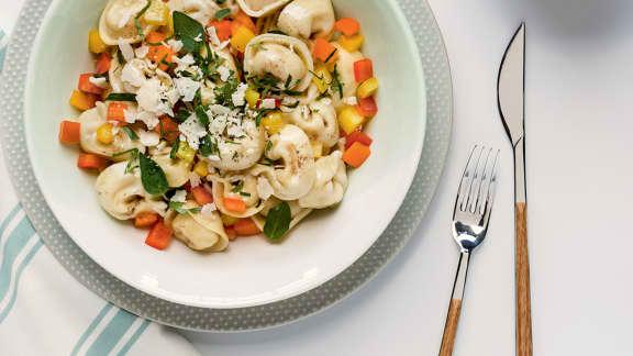Salade de tortellinis tricolores