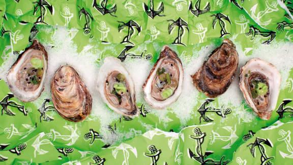 Sauce mignonette au wasabi pour huîtres