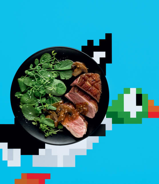 Magret de canard, sauce chasseur « Duck Hunt »