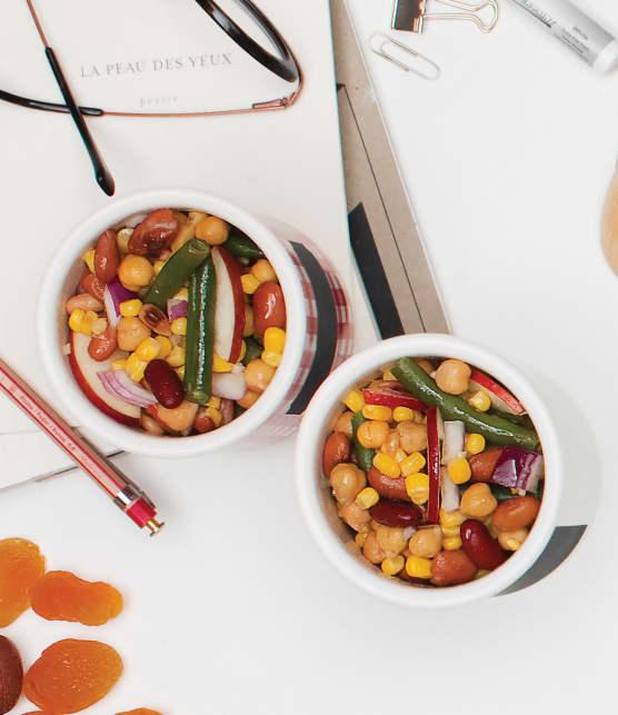 salade de pois chiches et de légumineuses