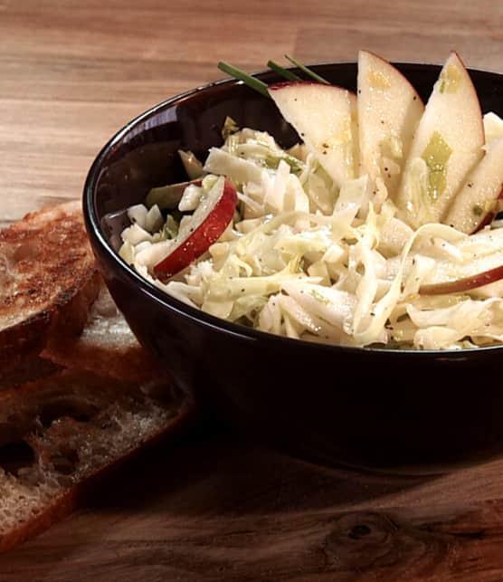 salade de chou aux pommes