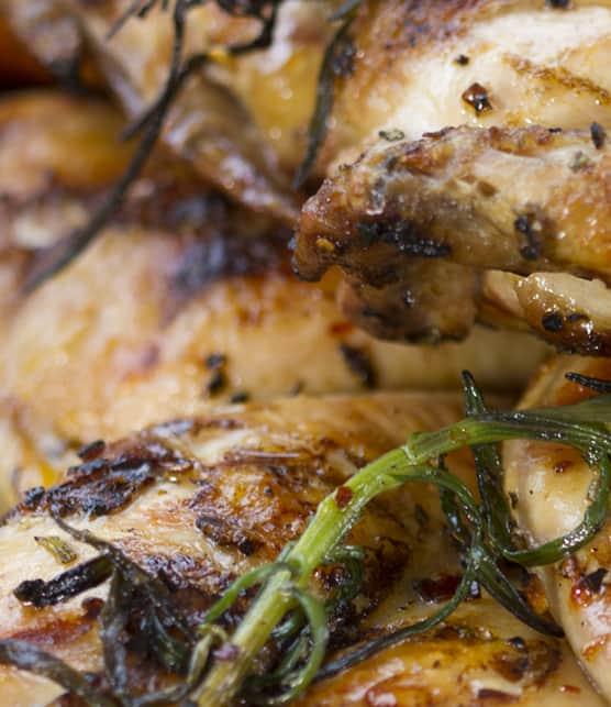 poulet de Cornouailles en crapaudine