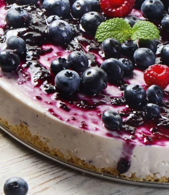 tarte glacée aux petits fruits d'été