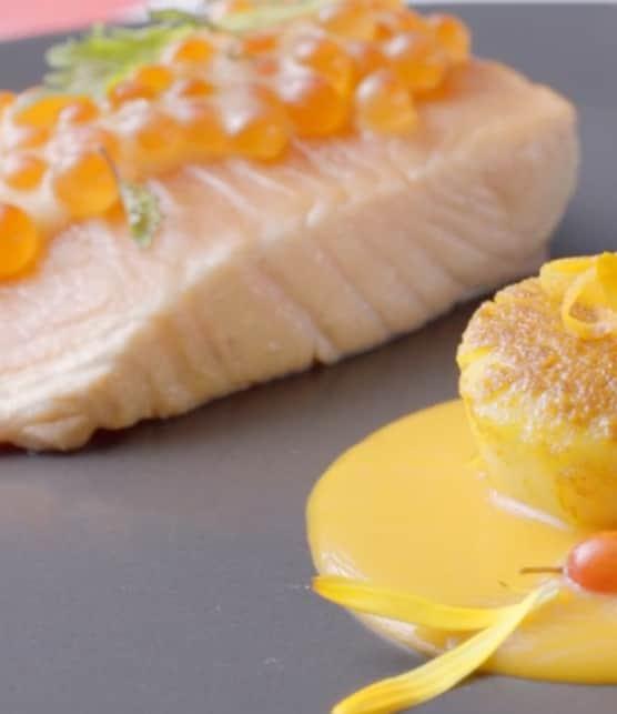saumon et pétoncles