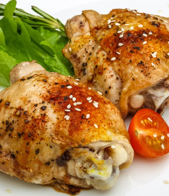 poulets de Cornouailles grillés à la portugaise