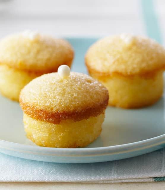 mini-gâteaux mousseline au citron