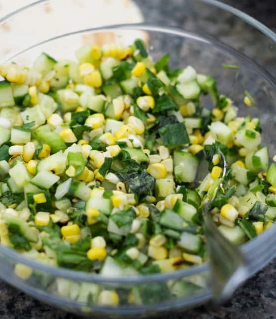 salade de maïs grillé