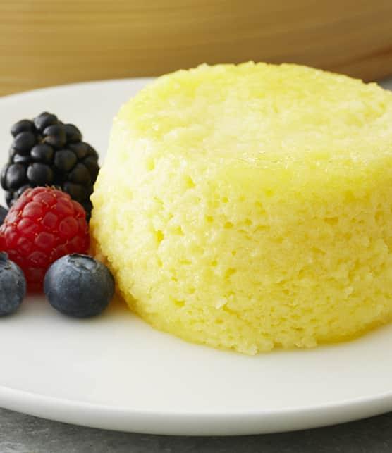 gâteaux vapeur soufflés au citron
