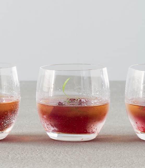 granité au vermouth rouge façon trou normand